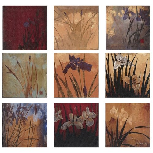 Abstract Iris Nine Patch II by Li-Leger 9 Piece Painting Canvas Set