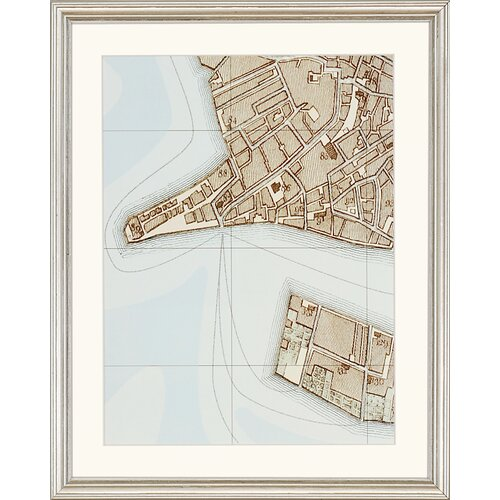 Paragon Plan of Venice Framed Painting Print