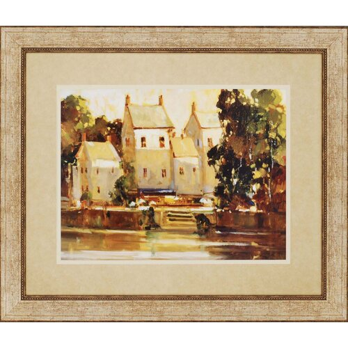 Steps to the Manor Landscapes by Goerschner Framed Painting Print