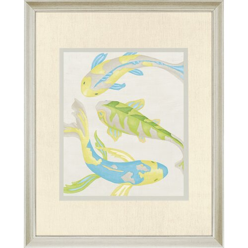 Jade Koi I by Zarris Framed Art Print
