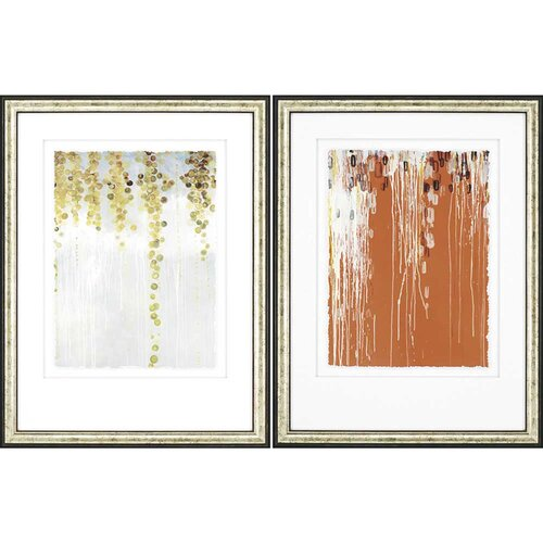 Gold Swirls and Belt by Kowalski Framed 2 Piece Painting Print Set