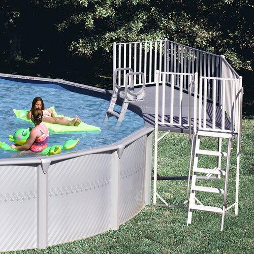 Heritage Pools 2 Piece Pool Fan Deck
