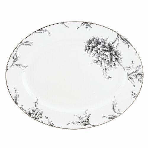 "Marchesa by Lenox Floral Illustrations 13"" Oval Platter"