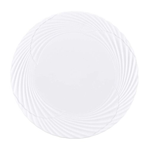 "Marchesa by Lenox Pleated Swirl 9.25"" Accent Plate"