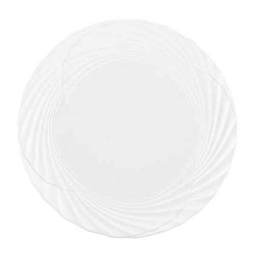 "Marchesa by Lenox Pleated Swirl 10.8"" Dinner Plate"