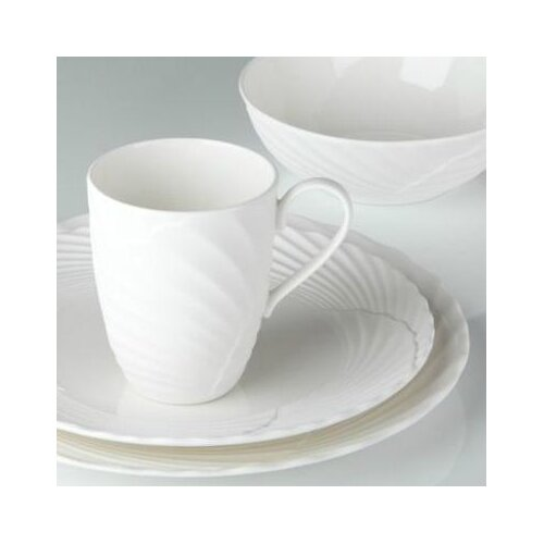 Marchesa by Lenox Pleated Swirl 4 Piece Place Setting