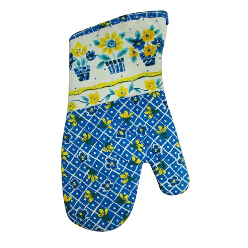 Printed Three Pots of Flower Oven Mitt (Set of 2)