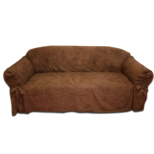 Textiles Plus Inc. Faux Suede Sofa Slipcover