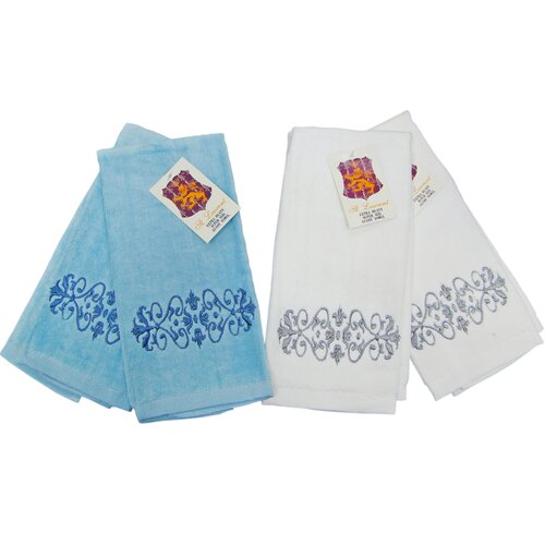 Embroidery Guest Towel (Set of 4)