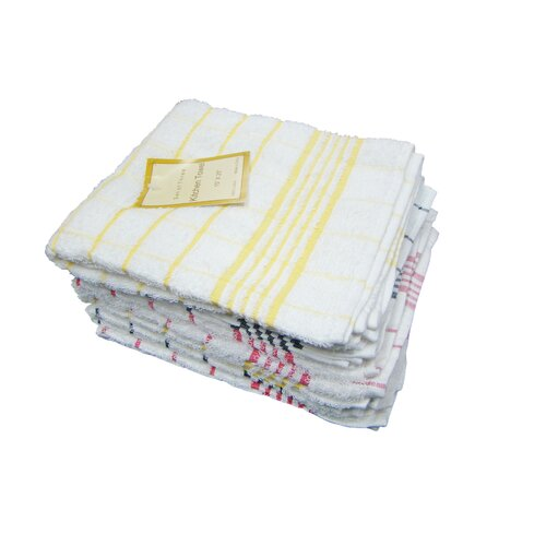 Textiles Plus Inc. Heavy Weight Check Kitchen Towel