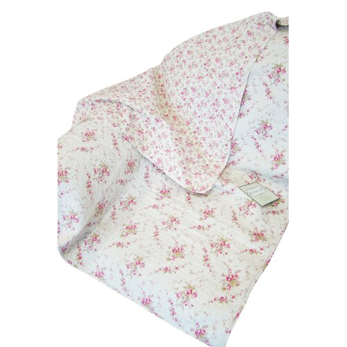 Textiles Plus Inc. Rose Perfume Abby Rose Cotton Throw