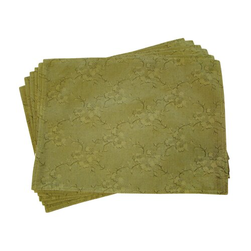 Lined Jacquard Blossom Placemat (Set of 6)