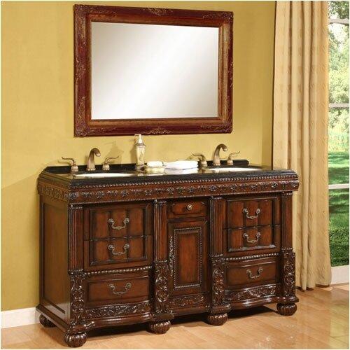 """Global Treasures Bradford 60"""" Double Bathroom Vanity Set"""