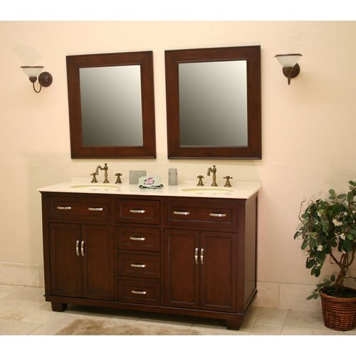 "Global Treasures Bolton 60"" Double Bathroom Vanity Set"