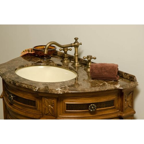 "Global Treasures Caden 31"" Demilune Bathroom Vanity Set"