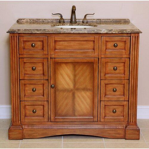 42 inch wood bathroom vanity wayfair