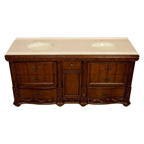 "Global Treasures Kendal 72"" Double Bathroom Vanity Set"