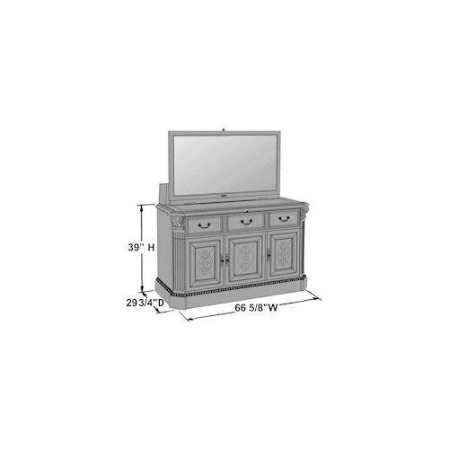 "TVLIFTCABINET, Inc Willowcraft 67"" TV Stand"