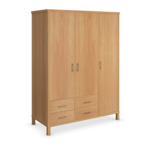 Urbane Designs Vettori Bedroom 3 Door 4 Drawer Wardrobe