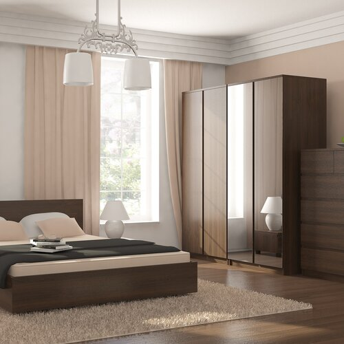 Urbane Designs Hadlee Bedroom 2 Door Mirrored Wardrobe