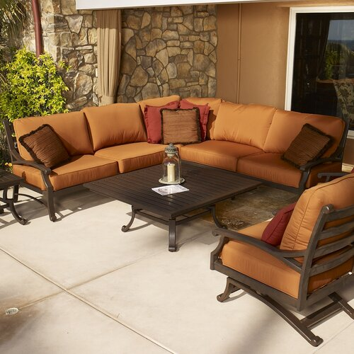 Sunset West Newport Sectional Sofa with Cushions