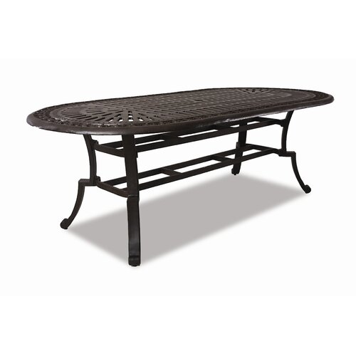 Sunset West Del Mar Oval Aluminum Dining Table