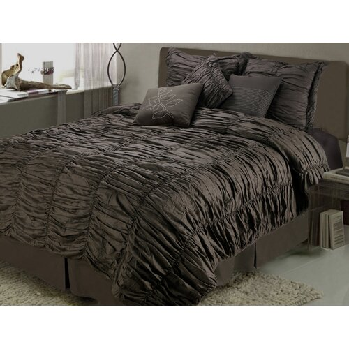 Ruched Comforter Set