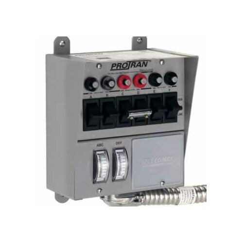 Pro / Tran Transfer Switch for Generator with 6 Circuit Breaker
