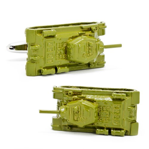Army Tank Cufflinks in Green