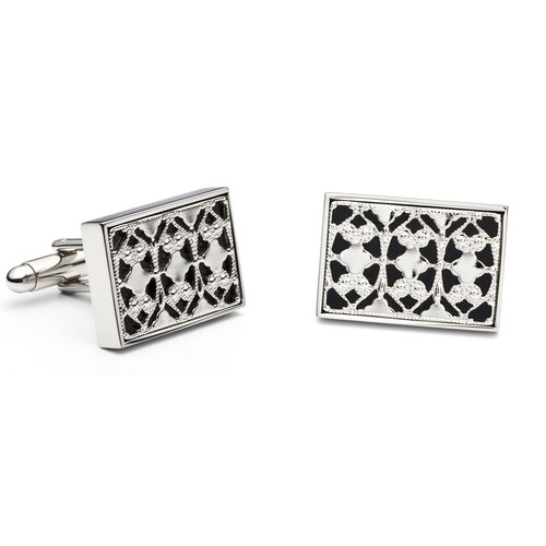 Ox and Bull Onyx Rectangle Cufflinks