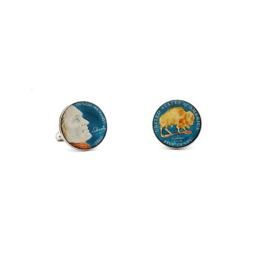 Penny Black 40 Hand Painted USA Coin Cufflinks