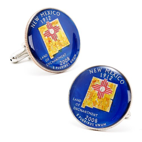 Penny Black 40 Hand Painted New Mexico State Quarter Cufflinks