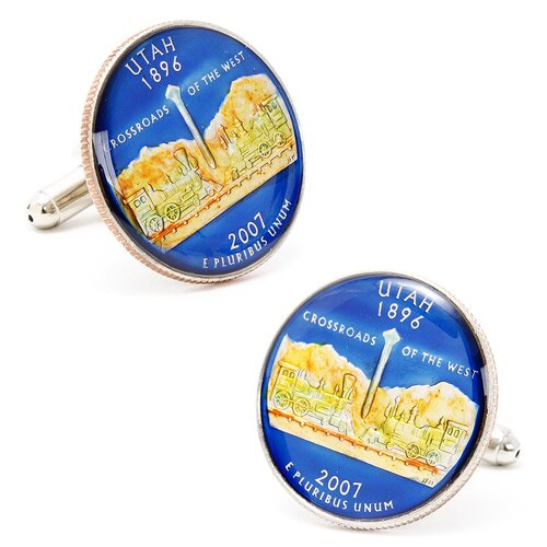 Penny Black 40 Hand Painted Utah State Quarter Cufflinks