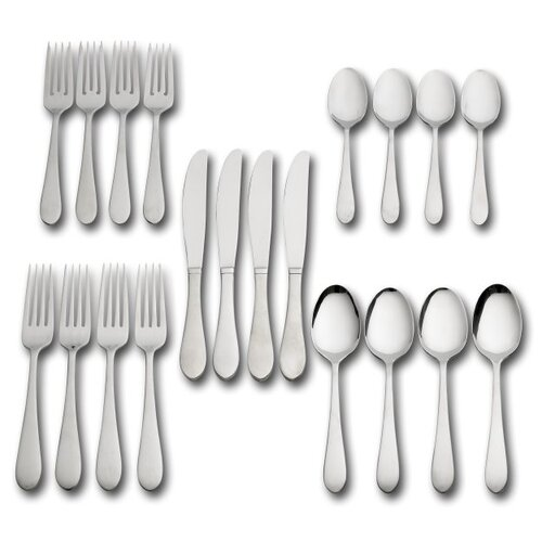 20 Piece Salisbury Satin Flatware Set