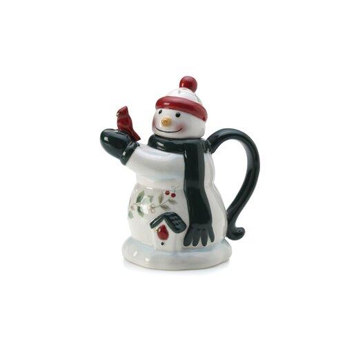 Pfaltzgraff Winterberry Mini Snowman Teapot