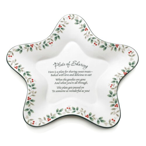 Pfaltzgraff Winterberry Star Shaped Sharing Plate