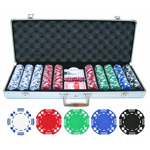 JP Commerce 500 Piece Double Suited Poker Chip Set