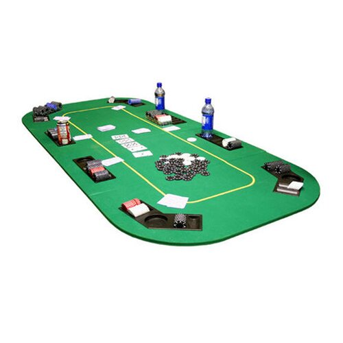 JP Commerce Texas Hold'em Folding Table Top with Cup Holders