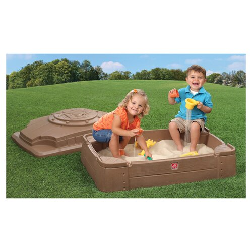Step2 Play And Store 2' Rectangular Sandbox With Cover