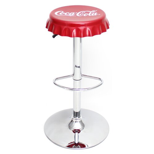 "LumiSource Coca-Cola 24"" Adjustable Swivel Bar Stool"