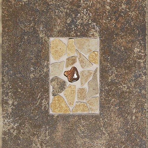 """Daltile Castle De Verre 12-13/16"""" x 9-13/16"""" Decorative Accent Tile in Regal Rouge"""