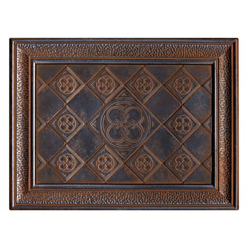 "Daltile Castle Metals 16"" x 12"" Clover Mural Decorative Wall Tile in Wrought Iron"
