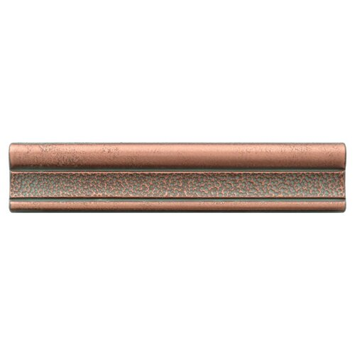 "Daltile Castle Metals 12"" x 2-1/2"" Hammered Ogee Decorative Wall Tile in Aged Copper"