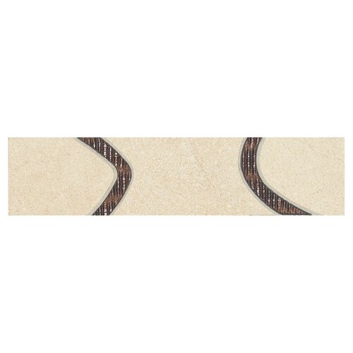 "Daltile City View 12"" x 3"" Decorative Accent Tile in Harbour Mist"