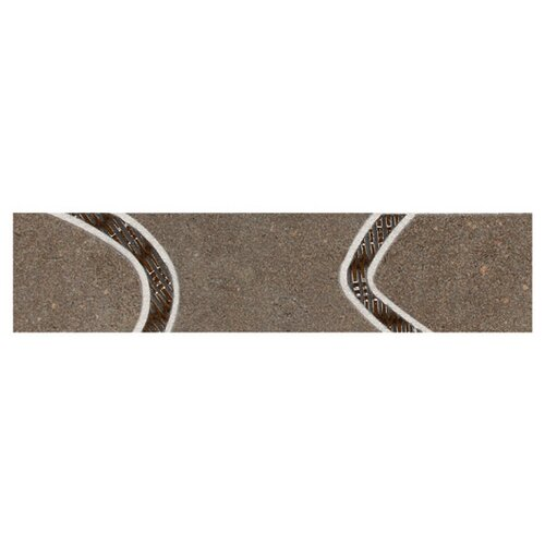 "Daltile City View 12"" x 3"" Decorative Accent Tile in Neighborhood Park"