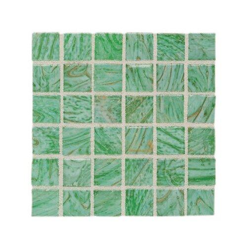 "Daltile Elemental Glass 3/4"" x 3/4"" Mosaic Tile in Kiwi Punch"