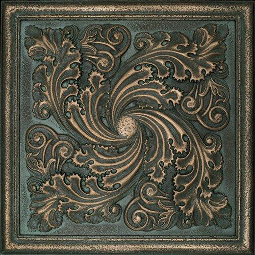 Daltile metal signatures artesia mural 12 x 12 for Decorative tile mural