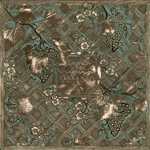 "Daltile Metal Signatures Trellis Mural 12"" x 12"" Decorative Tile in Aged Bronze"