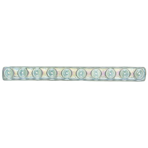 "Daltile Cristallo Glass 8"" x 3/4"" Bead Decorative Accent in Aquamarine"