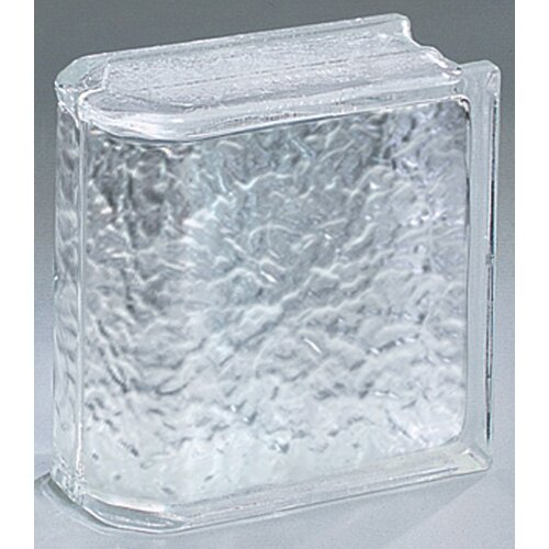 "Daltile Glass Block 8"" x 8"" Icescapes End Block"